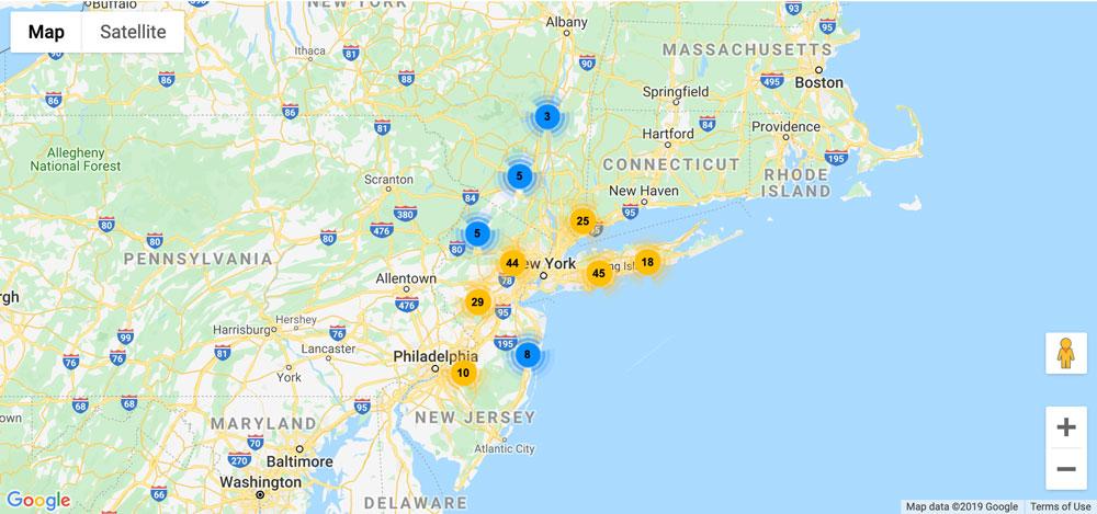 Plane Locator Map